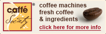 Coffee machines, fresh coffee and ingredients - more info