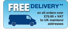 Free Delivery on all orders over £75 to UK mainland addresses **
