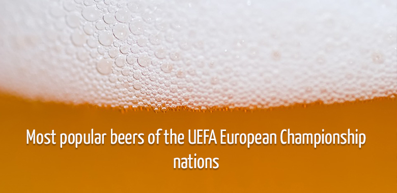 Most popular beers of the UEFA European Championship nations