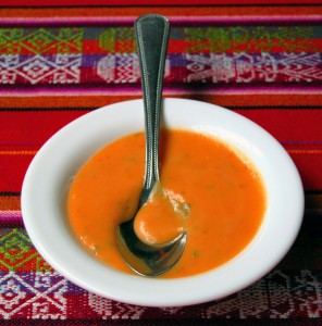 Smooth And Spicy Thai Pumpkin Soup