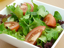 Green salad - just add olive oil!