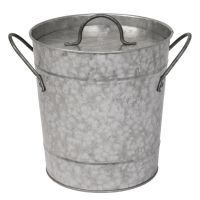 Olympia Galvanized Ice Bucket with Lid 3.4Ltr