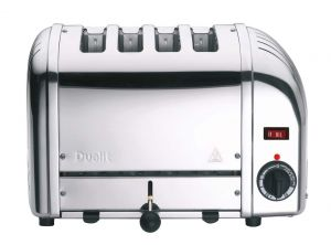 Dualit 43021 4 Slot Bun Toaster - Polished