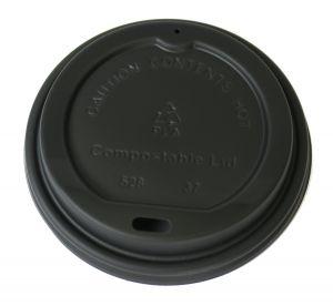 Caffe Society 12oz Black Biodegradable Eco Sip Lids